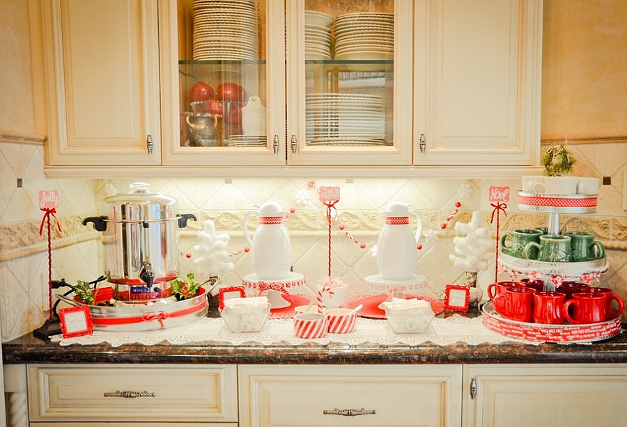 Gorgeous display in red and white for the holiday season [Design: Amber Hopman]