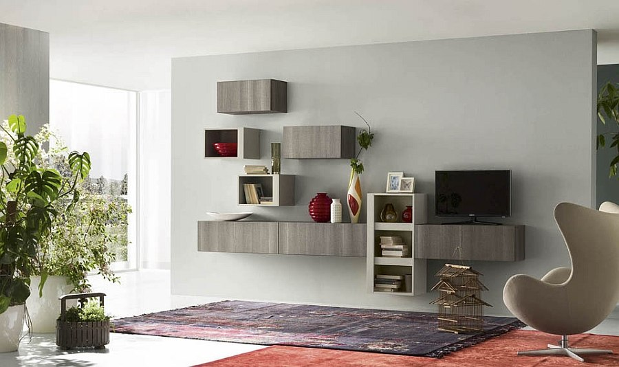 Gorgeous eco wood shapes stylish and sustainable storage shelves