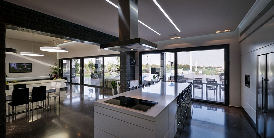 Gorgeous kitchen island in white with ample seating space