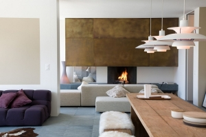 Gorgeous living space of the smart Swiss apartment