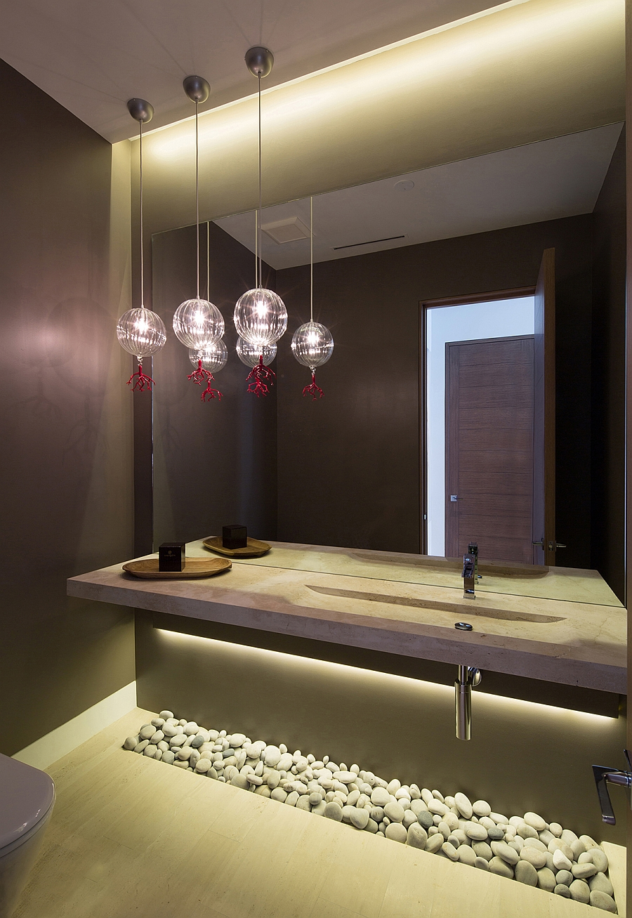 Gorgeous use of pendant and LED lighting
