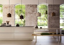 Gorgeous use of pendant lights in the kitchen