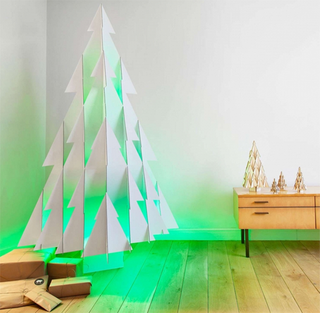 view in gallery green led christmas tree - Minimalist Christmas Decor