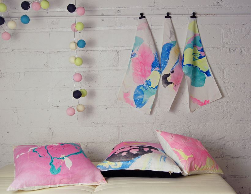Hand-inked decor from Wind & Willow Home