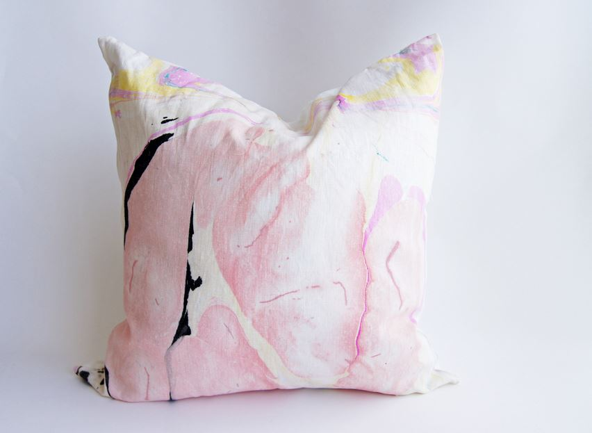 Hand inked pillow from Wind & Willow Design