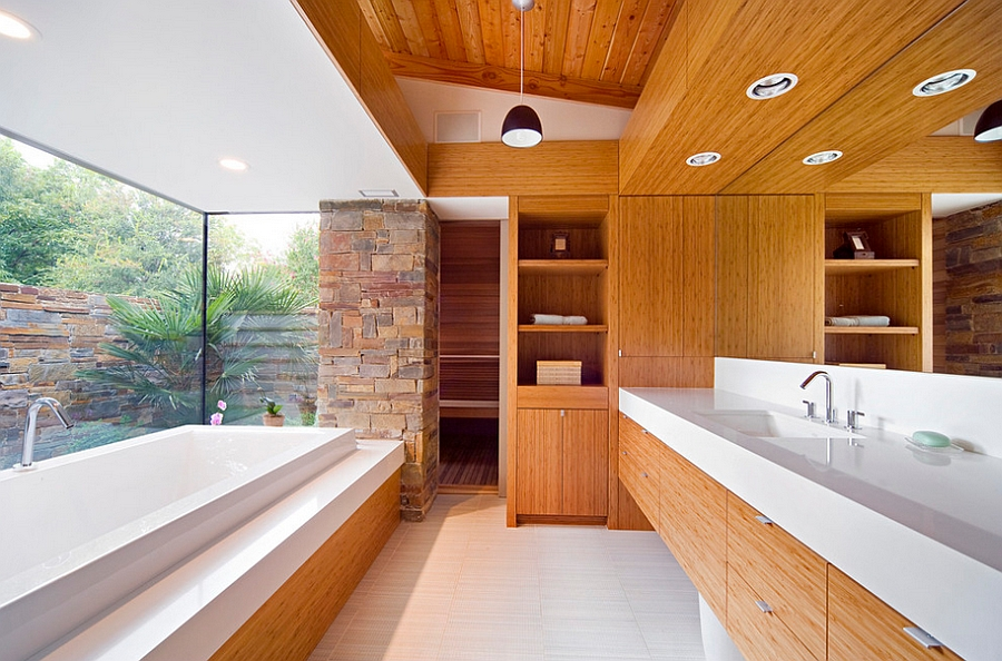 Heated floors bring spa-like comfort to the modern home [Design: Domiteaux + Baggett Architects]