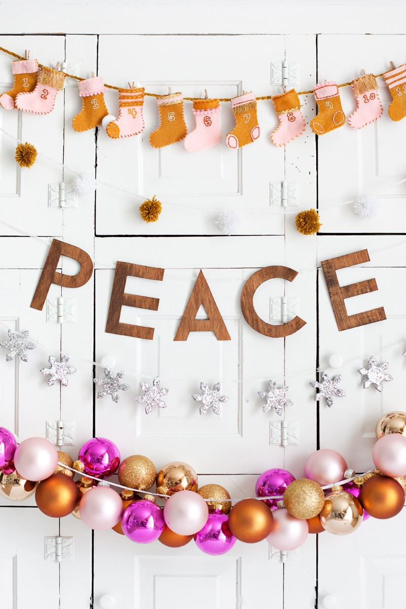 Holiday garlands by A Beautiful Mess