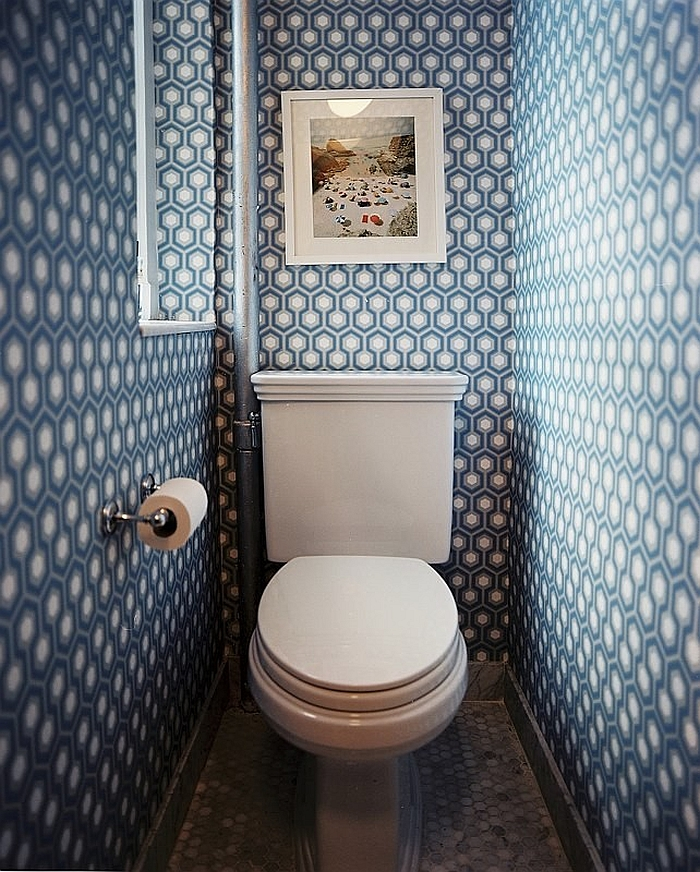 Iconic David Hicks wallpaper is a show stopper! [From: Delishhh Blog]