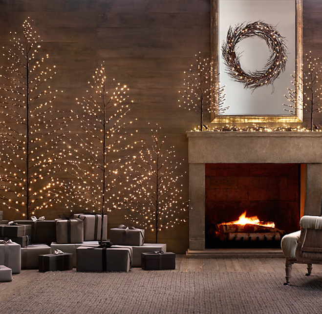 Restoration Hardware Starlit Tree Decorated
