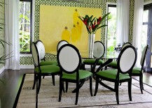 Imperial Trellis Wallpaper in green brings the walls alive