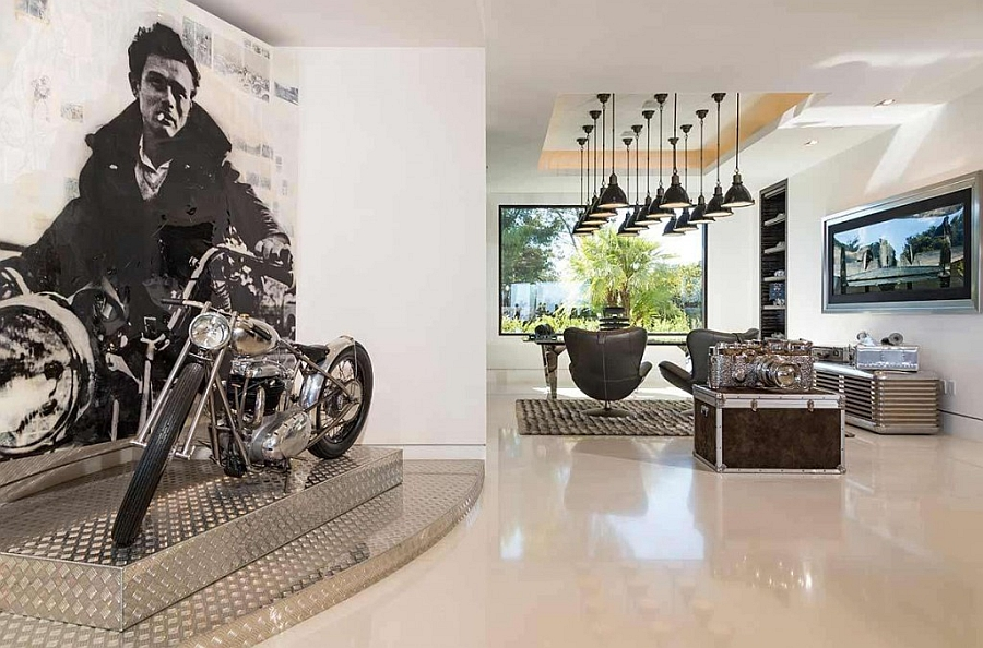 James Dean Motorbike replica in the living room