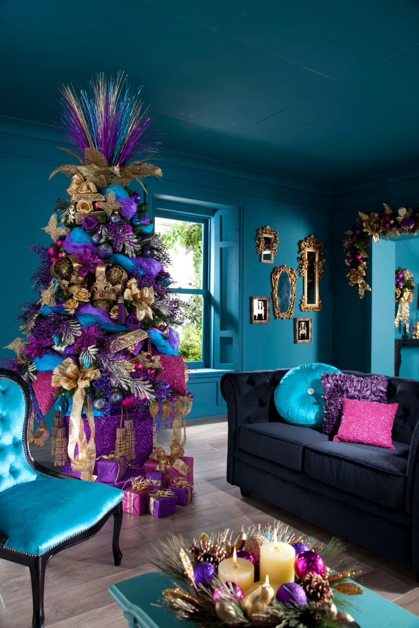 Living Room Christmas Decorating 10 Rooms With Festive Christmas Trees