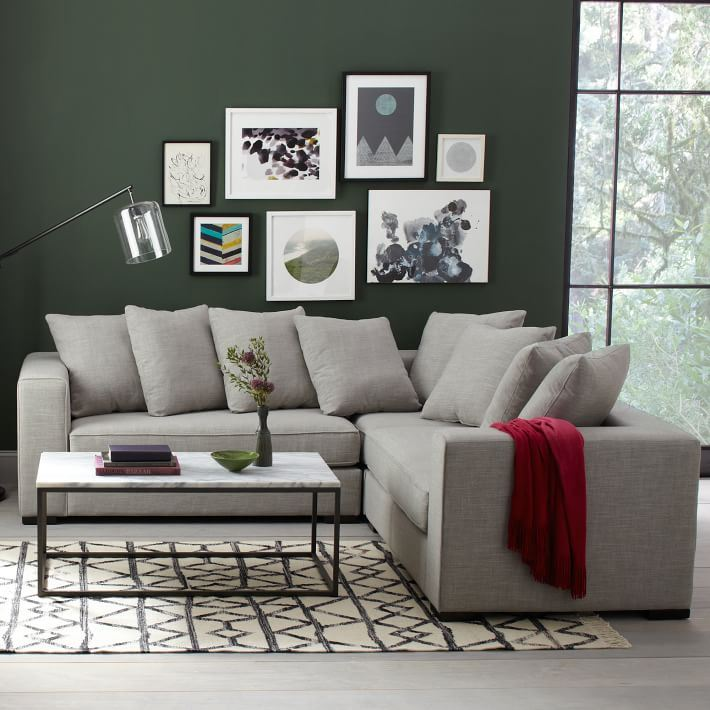 L-shaped sectional from West Elm