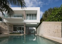 Lavish pool of the Miami beach house