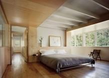 Loft-styled bedroom of the modern barn house