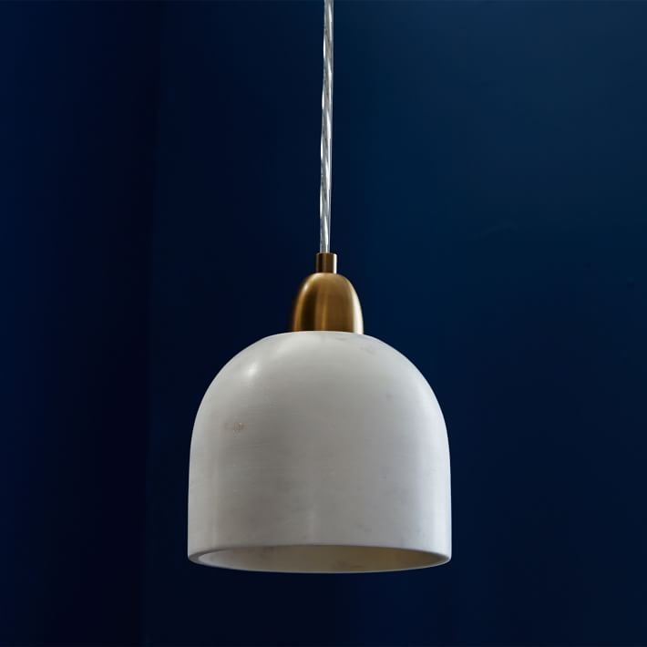 Marble pendant light from West Elm
