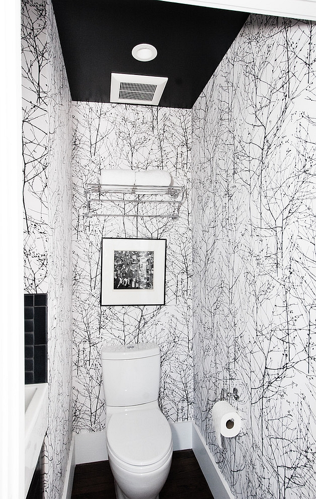 Midcentury powder room makes smart use of space [Design: Regan Baker Design]