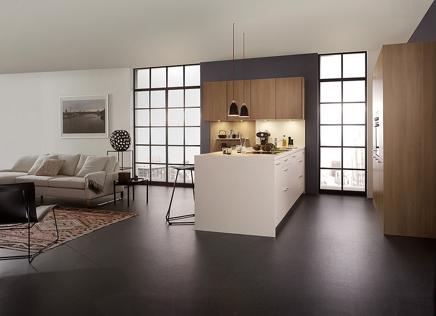 Minimalist design of the sophisticated modern kitchen