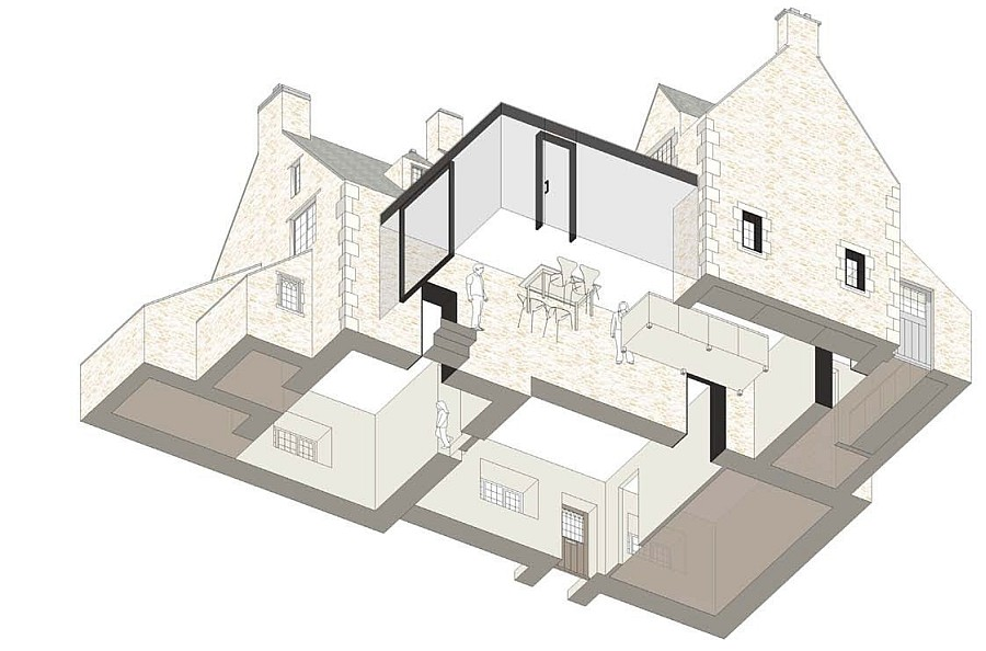 Model of the modern extension to the classic British home