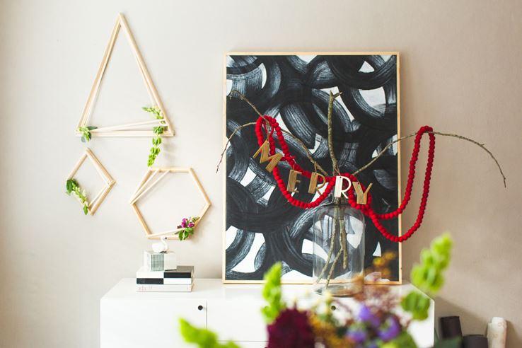 Modern geo wreaths