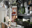 Modern kitchen decorating idea for the holiday season