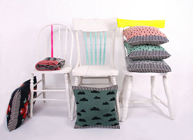 Modern pillows from Baba Souk