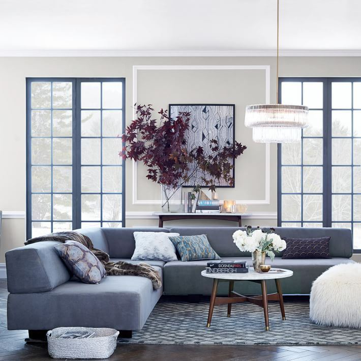 Modern sectional in an elegant interior