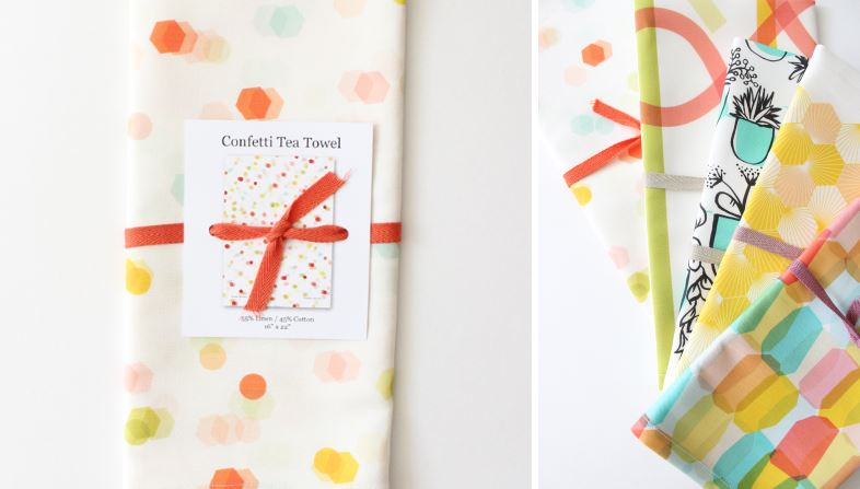 Modern tea towels from Baba Souk