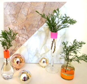 Neon DIY holiday centerpiece