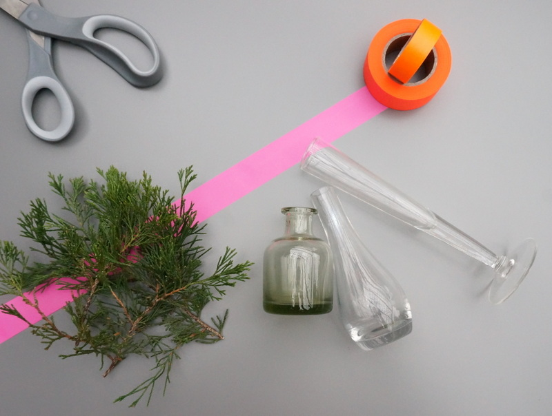 Neon centerpiece supplies A DIY Christmas Centerpiece with Neon Accents