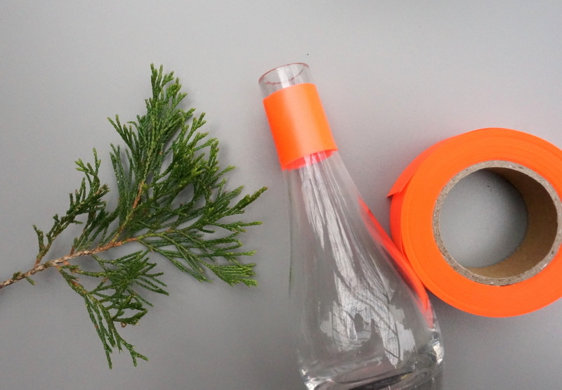 Neon orange flagging tape DIY project