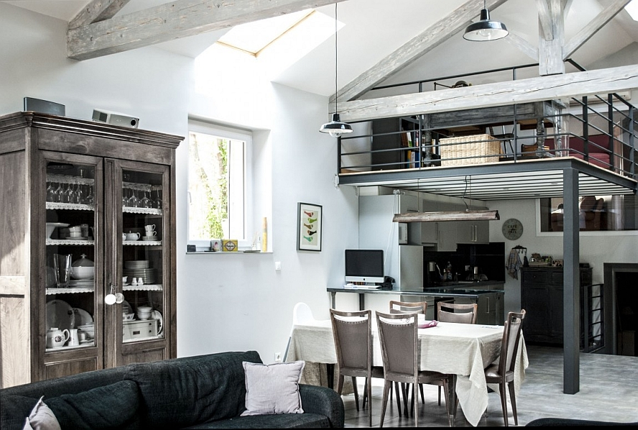 Old paper mill renovated into a contemporary loft 90s Paper Mill in France Transformed into an Idyllic Contemporary Loft