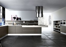 Open cabinets and shelves allow you to decorate the kitchen in style