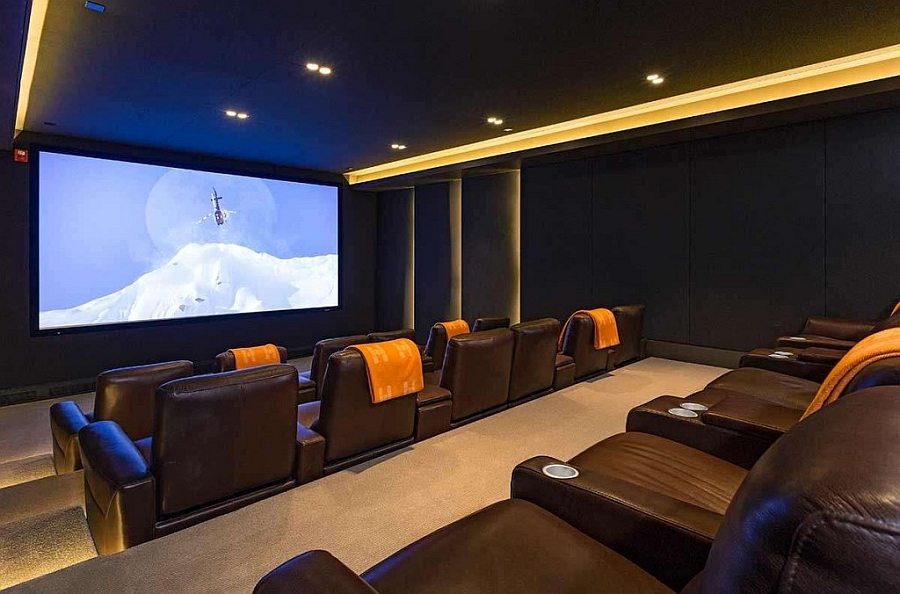 Opulent home theater design for the sensational bachelor pad