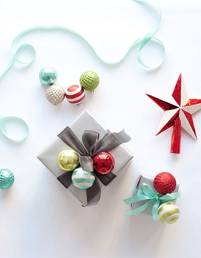 Ornament cluster gift wrapping