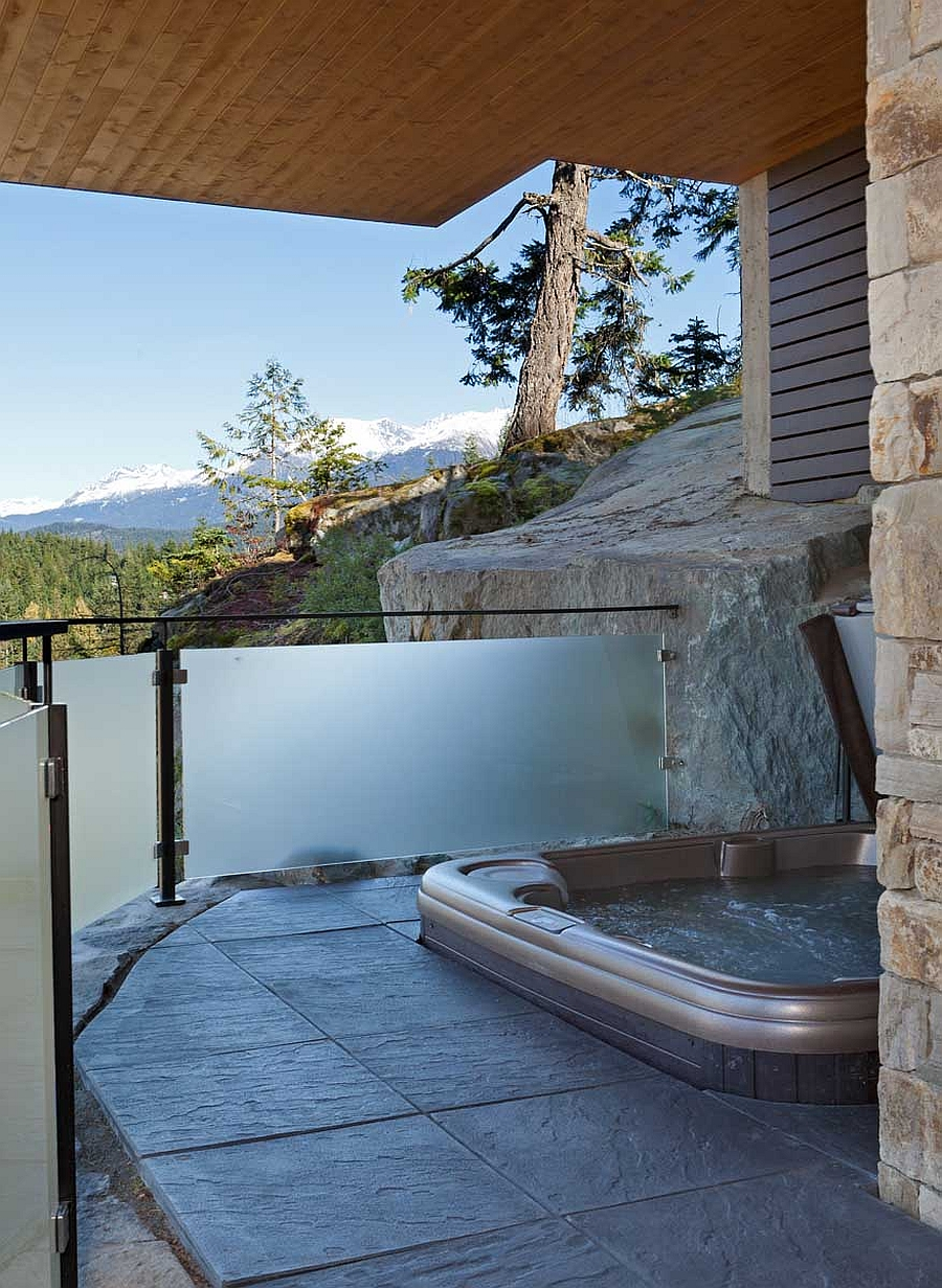 Outdoor Jacuzzi combines luxury with stunning views