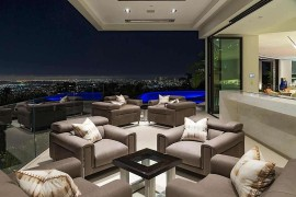 Overlloking the LA skyline from the private balcony