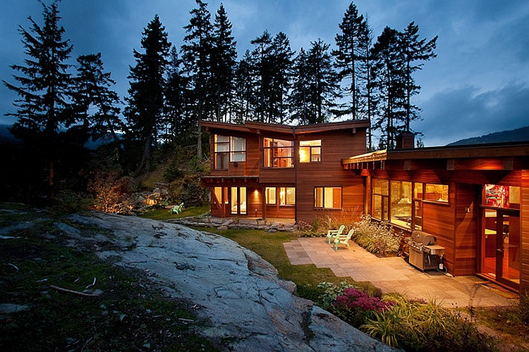 Panoramic Chalet in Whistler, Canada with beautiful lighting