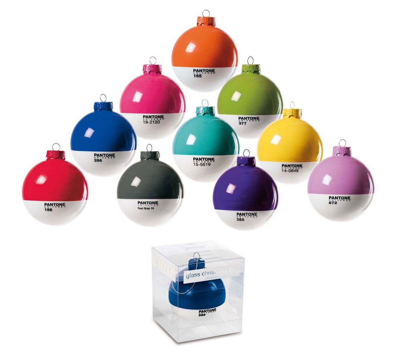 Pantone Holiday Ornaments