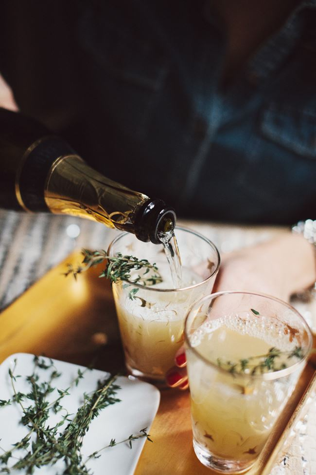 Pear and thyme mimosa from Glitter Guide