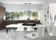Perfect little breakfast nook for the trendy modern kitchen