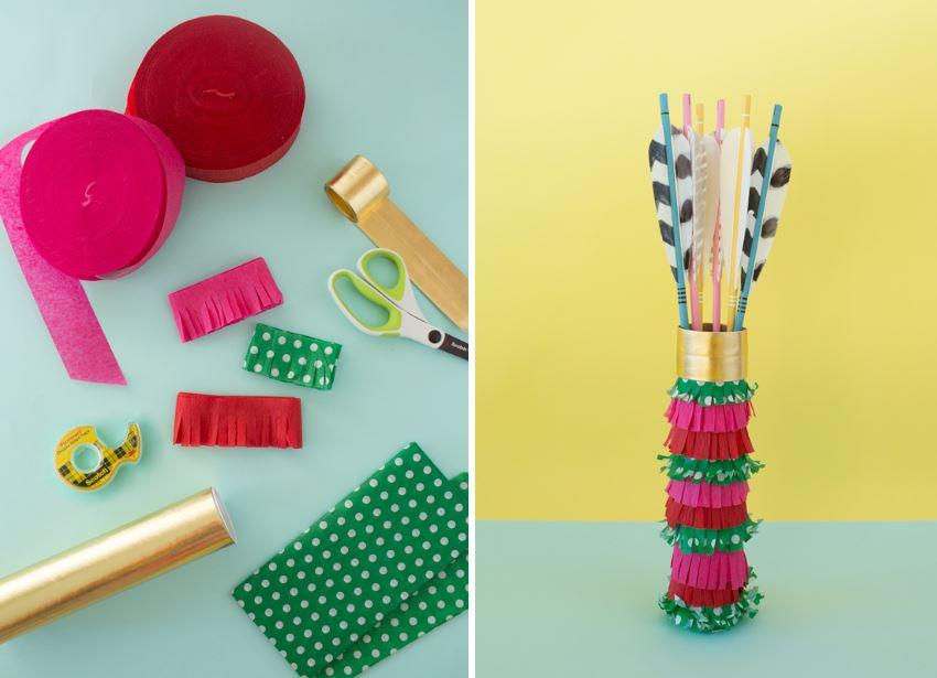 Pinata-style gift wrap