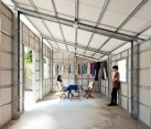 Prefab tinyhouse with steel lattice structure by Vo Trong Nghia