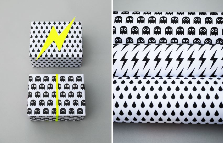 Printable gift wrap from Minieco