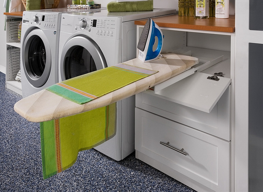 Pull-out ironing board in the laundry seems like a natural choice [From: transFORM]