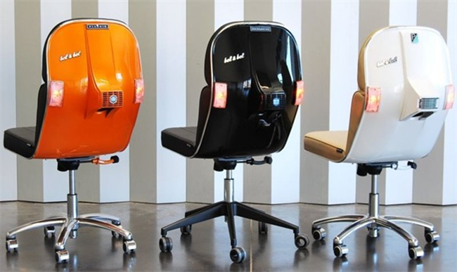 Recycled Vespa Office Chairs