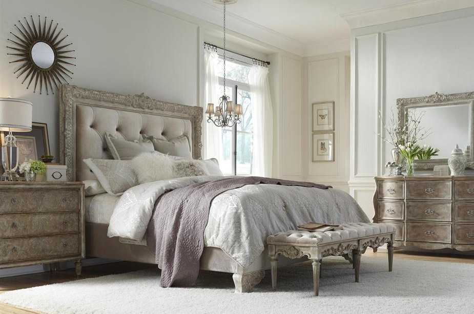 Rustic White Gray Master Bedroom