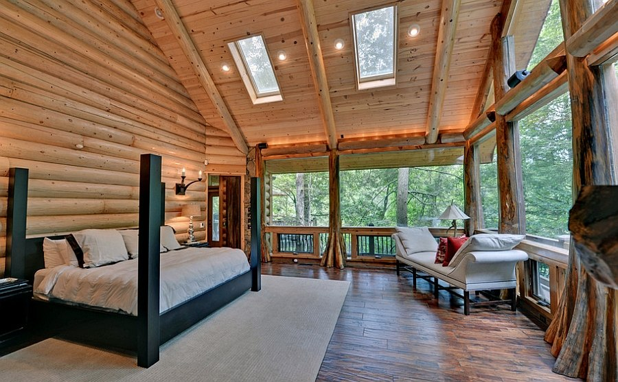 23 stylish bedrooms that bring home the beauty of skylights Nature bedroom