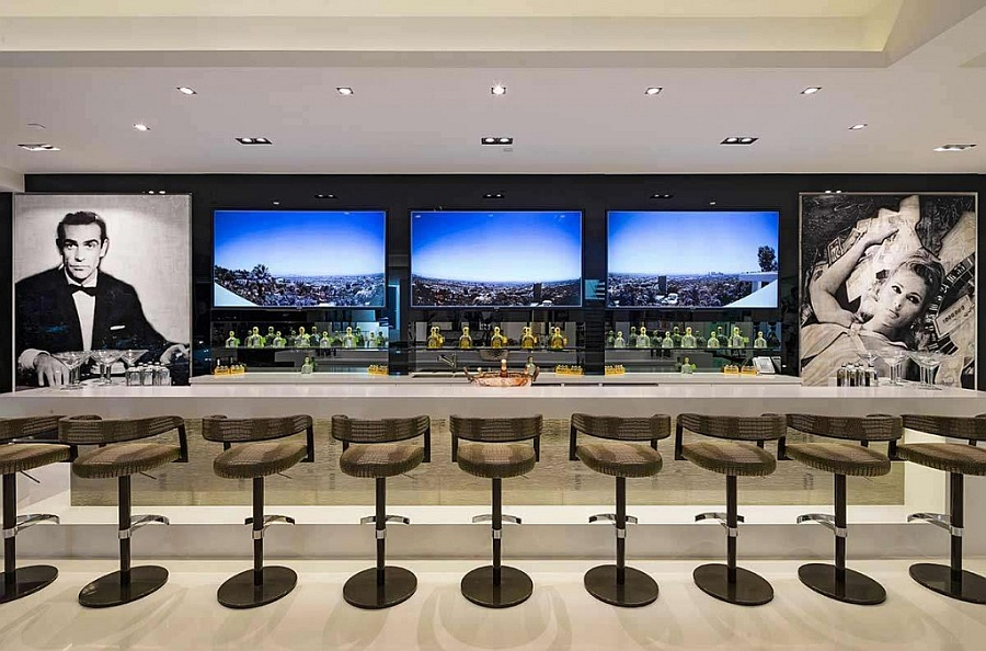 Sensational home bar design of the Beverley Hills mansion