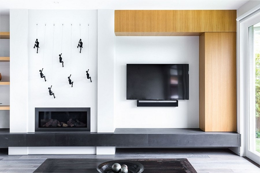 Sleek living room entertainment unit design with a minimal touch